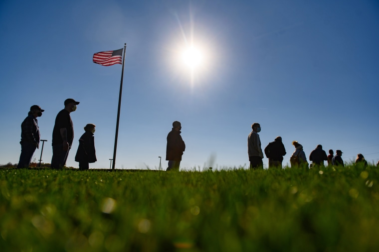 Image: *** BESTPIX *** Across The U.S. Voters Flock To The Polls On Election Day