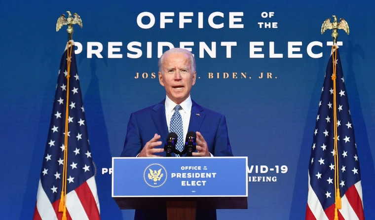 Image: President-elect Joe Biden delivers remarks at The Queen in Wilmington, Del.