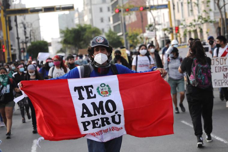 Image: Peru anti-government protests