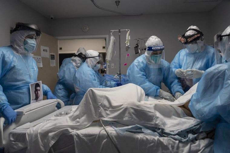 Image: ***BESTPIX*** Houston Hospital Continues To Deal With Spike In Covid Cases