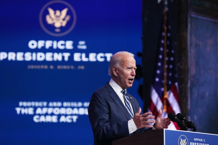 Image: President-Elect Biden Remarks On ACA As Supreme Court Takes On Case