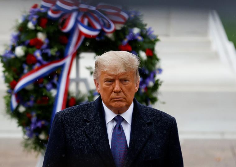 Image: U.S. President Trump attends Veterans Day observance at Arlington National Cemetery in Arlington, Virginia
