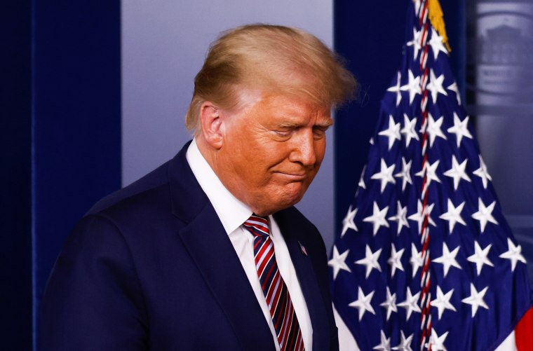 Image: U.S. President Trump speaks to reporters about the 2020 presidential election at the White House in Washington
