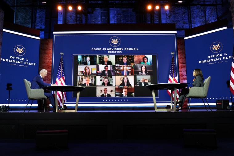 Image: U.S. President-elect Biden meets with members of transition coronavirus advisory board in Wilmington, Delaware