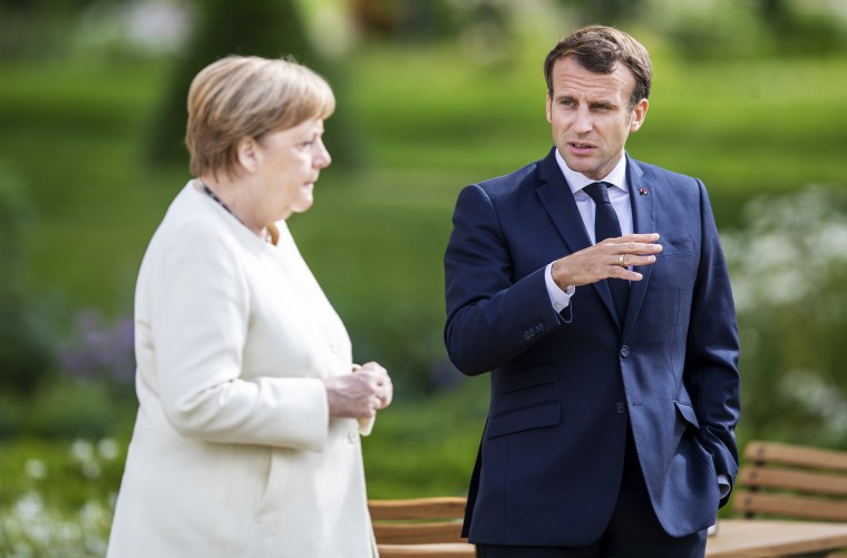 German Chancellor Merkel And French President Macron Meet In Meseberg During The Coronavirus Pandemic
