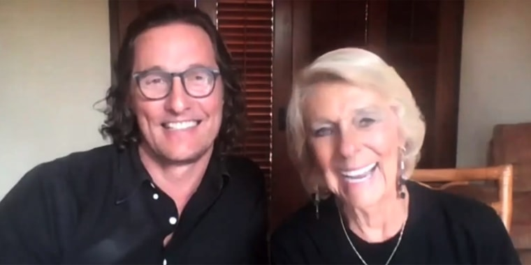 """Matthew McConaughey's mom, Kay, joined her son on Tuesday's new episode of """"Red Table Talk."""""""