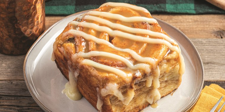 One of these gigantic cinnamon rolls can feed a family of four.