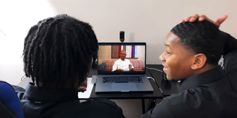YouTubers Fred and Tim Williams weren't expecting to speak to former President Obama until December but he surprised them with a spontaneous video chat.