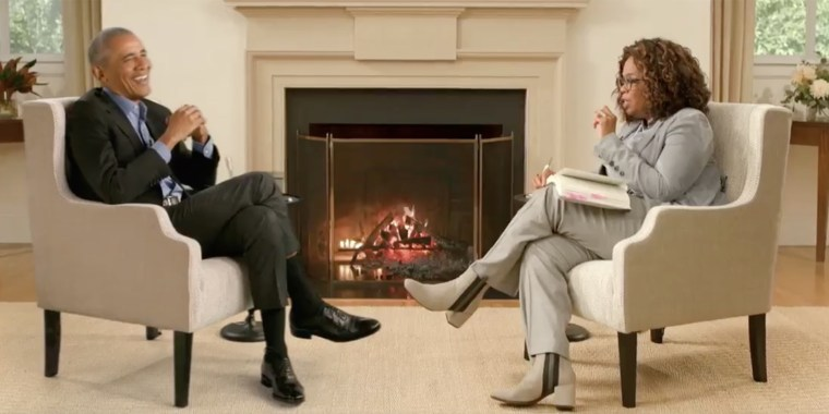 Barack Obama sat down with Oprah Winfrey to discuss his new memoir for an Apple TV interview.