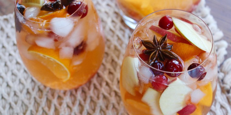 This sangria packs a lot of punch with cava sparkling wine and vodka but has a delightfully warming flavor, too.