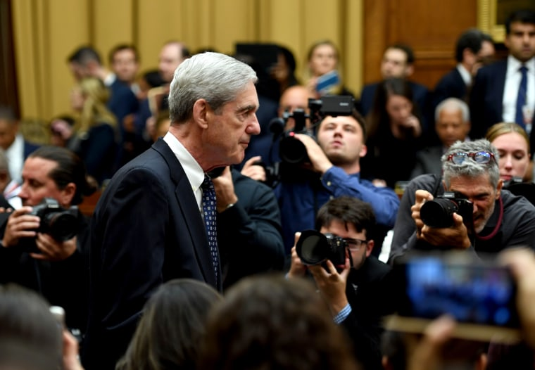 Image: Former special counsel Robert Mueller arrives to testify before Congress on July 24, 2019.