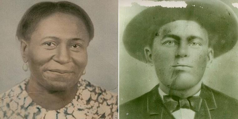 America Cohee-Webster, circa 1965, and Willie Cohee, circa 1896.