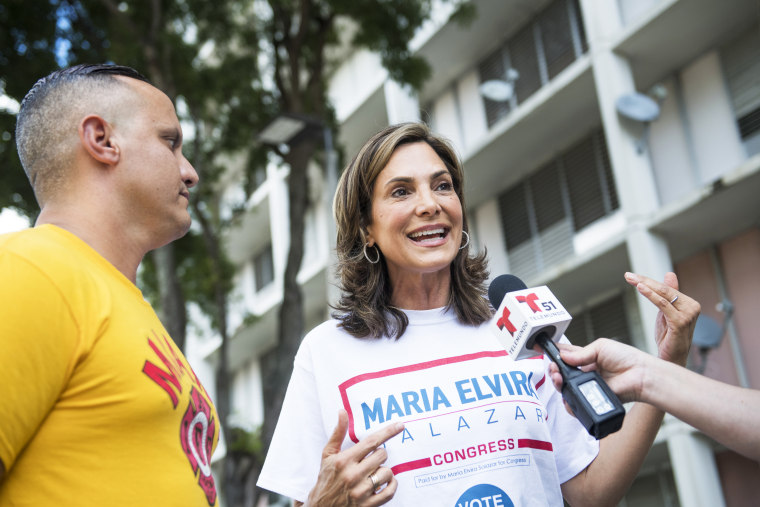 U.S. Rep-elect Maria Elvira Salazar of Florida. Earlier this month, she beat Democratic incumbent Donna Shalala in a tight race for Congressional District 27.