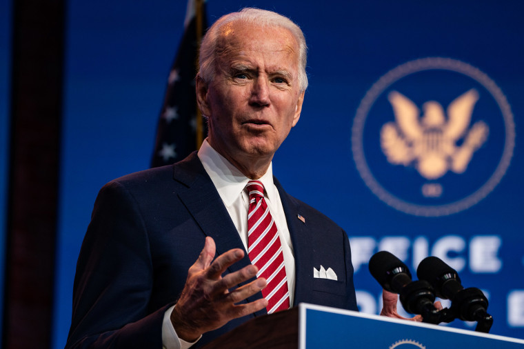 Image: President-elect Joe Biden delivers a remarks on the economic recovery at the Queen in Wilmington, Del.