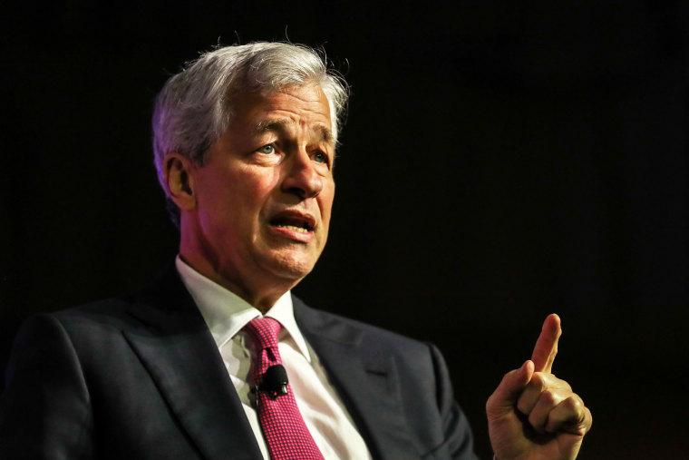 JPMorgan Chase CEO Jamie Dimon speaks at the North America's Building Trades Unions (NABTU) 2019 legislative conference in Washington