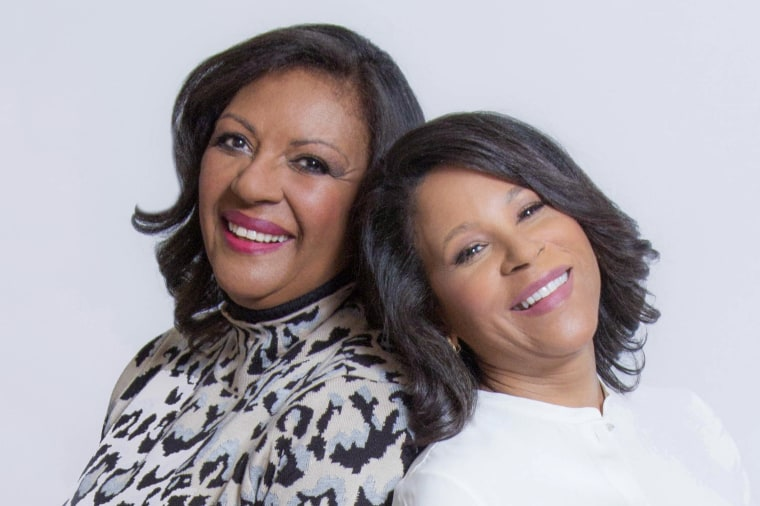 Former CBS News White House correspondent Jacqueline Adams, left, and Google VP Bonita Stewart address how women of color can empower each other as leaders.