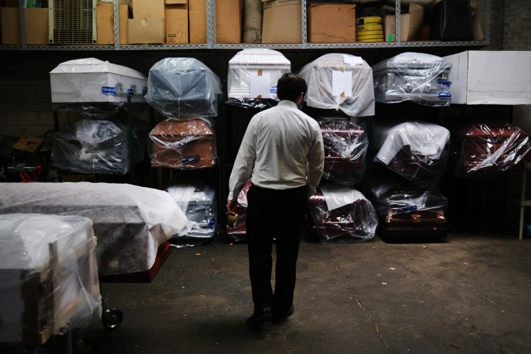 Image: Funeral Home In New York Experiences Surge Of Deaths Amid Coronavirus Pandemic
