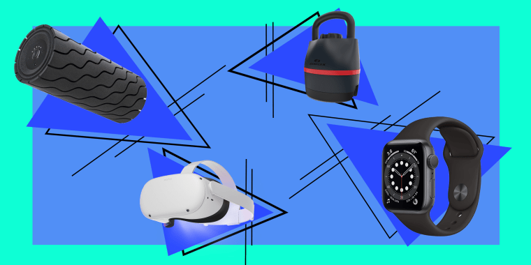 Best smart fitness gift ideas, including Apple Watch 6, Fitbit trackers, Oculus Quest 2 virtual reality (VR) device and workout fitness apps, spinning bikes, Theragun, Echelon, foam roller and more holiday 2020 gift guide ideas.