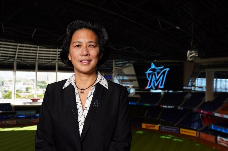Image: MLB: Kim Ng at Marlins Park