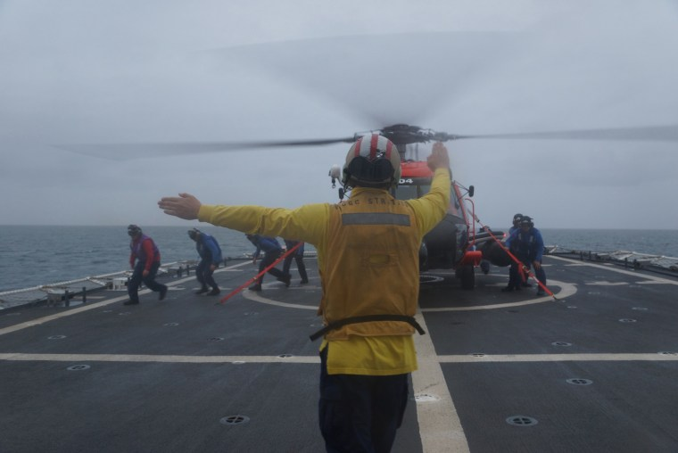 USCGC Stratton conducts training exercises as part of Arctic Shield 2016