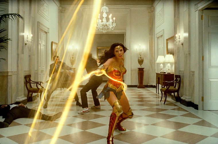 "Gal Gadot as Wonder Woman in \""Wonder Woman 1984.\"""