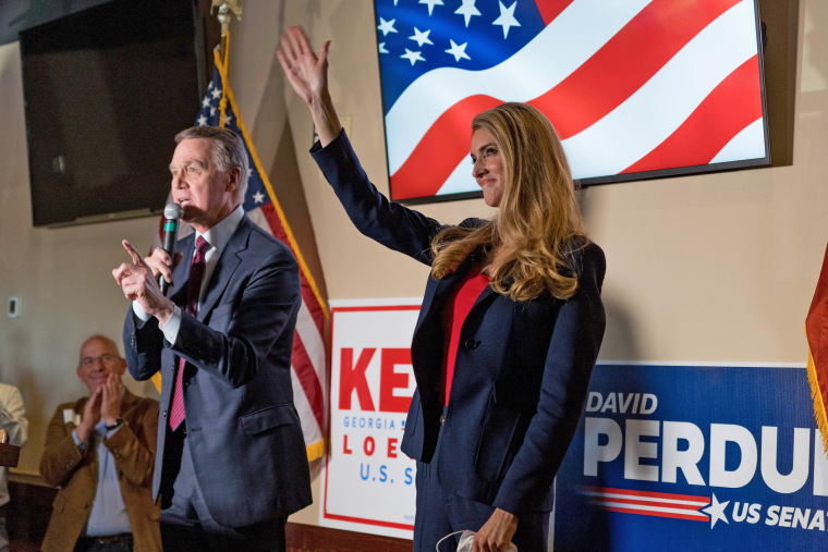 Image: Republican Senators David Perdue And Kelly Loeffler Running For Reelection In A Closely Watched Run-Off Hold Rally