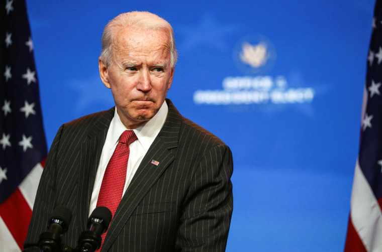 Image: U.S. President-elect Joe Biden speaks after meeting with governors in Wilmington, Delaware