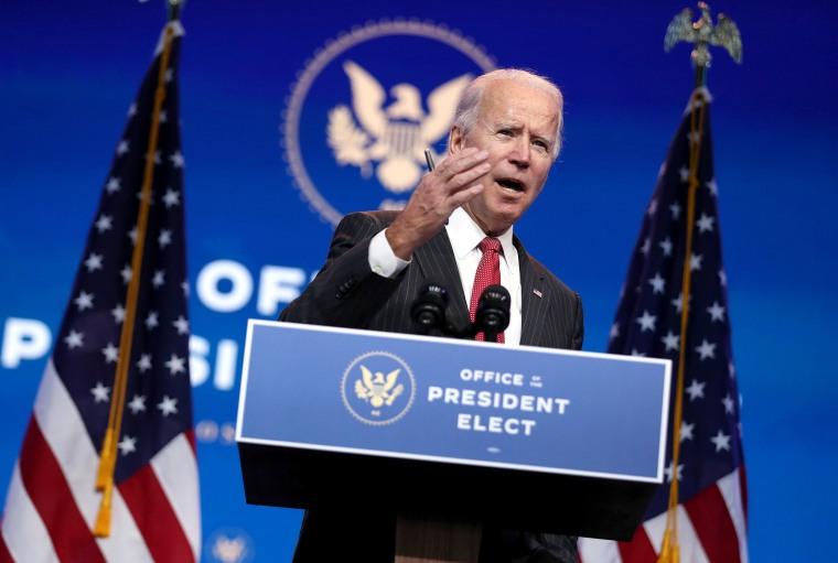 Image: President-Elect Biden And VP-Elect Harris Deliver Remarks In Wilmington, DE