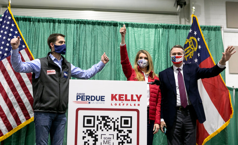 Image: Kelly Loeffler And David Perdue Campaign For Georgia Runoff Election
