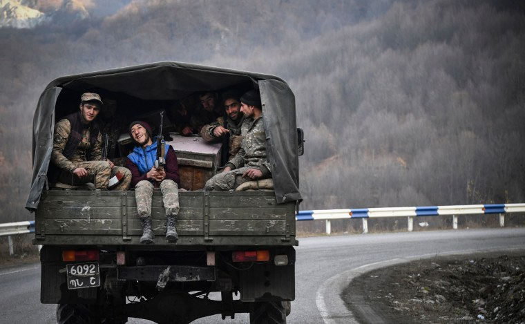 Image: TOPSHOT-AZERBAIJAN-ARMENIA-KARABAKH-CONFLICT