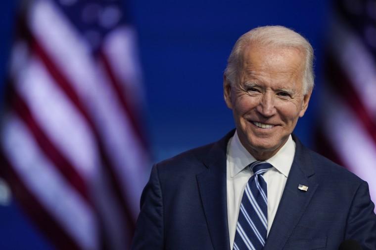 Image: President-elect Joe Biden smiles as he speaks at The Queen theater in Wilmington, Del.