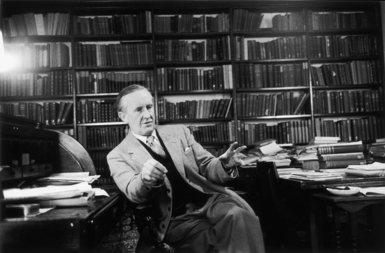 Image: John Ronald Reuel Tolkien (1892 - 1973) the South African-born philologist and author of 'The Hobbit' and 'The Lord Of The Rings'.
