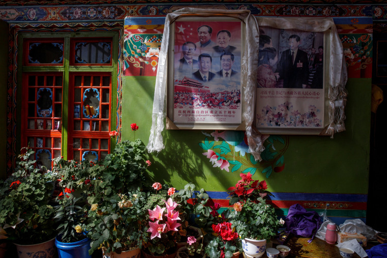 Image: China showcases poverty alleviation during a government organised tour of Tibet