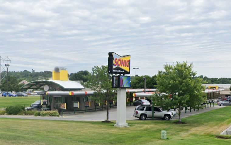 A Sonic drive-in in Bellevue, Neb., where there was a bomb threat on Nov. 21, 2020, according to police.