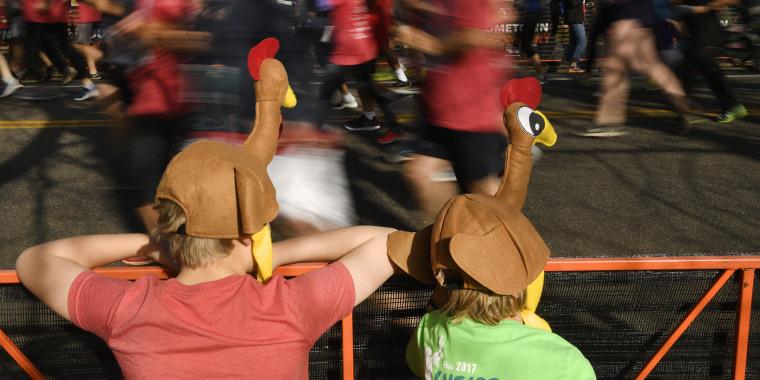 The popular Thanksgiving day Turkey Trot in Denver.