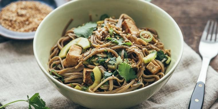 Japanese Otsu Salad with buckwheat noodles, Soba