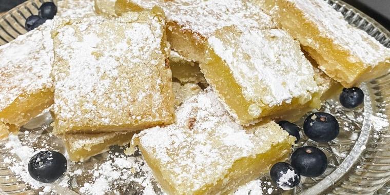 These decadent lemon bars are a recipe from Redditor Megan Hood's grandmother, Caroline.