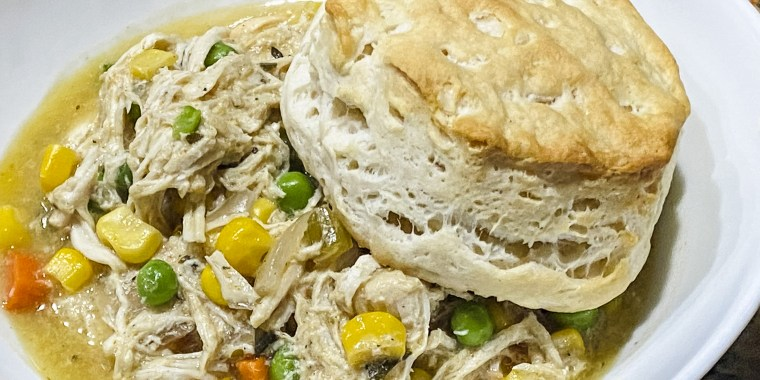 This slow-cooker chicken pot pie recipe originally appeared on the I Am Homesteader blog and went viral after it was posted to the r/slowcooking subreddit.