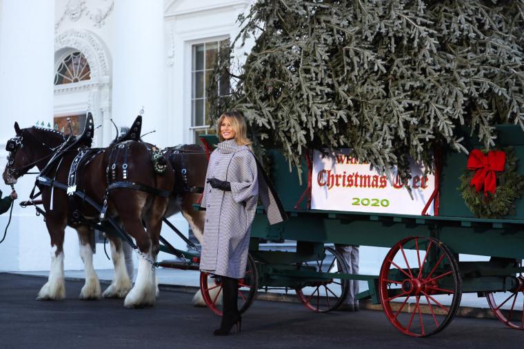 Image: First Lady Melania Trump Receives 2020 White House Christmas Tree