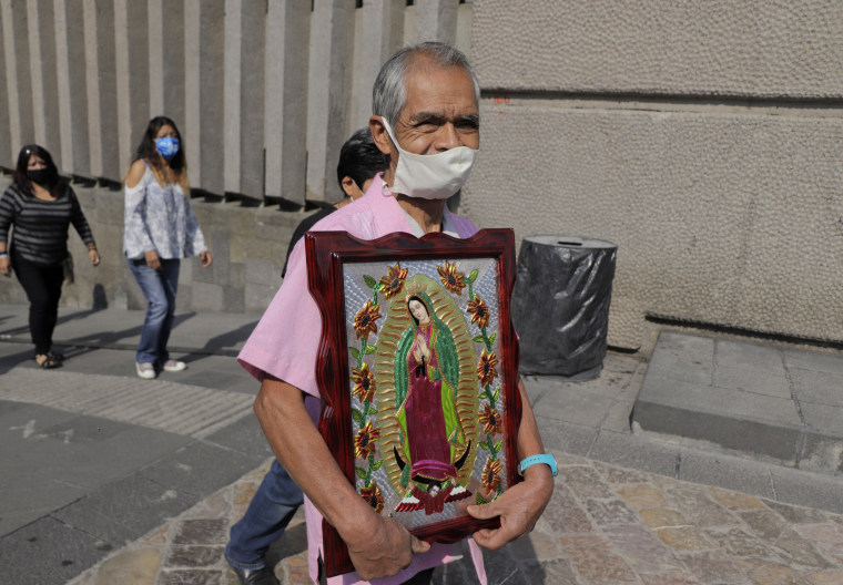Faithful visit the Basilica of Guadalupe in Mexico City on Nov. 8, 2020.