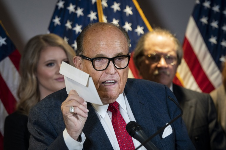 Image: Rudy Giuliani And Trump Legal Advisor Hold Press Conference At RNC HQ