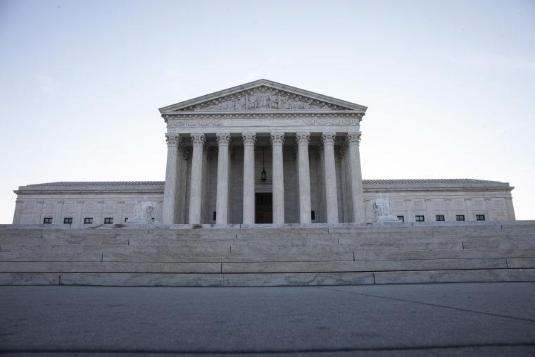 Image: Morning light shines outside the U.S. Supreme Court building.