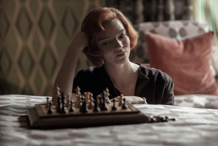 Image: Anya Taylor-Joy as Beth Harmon in 'The Queen's Gambit' on Netflix.
