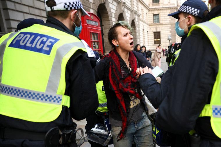 Image: Anti lockdown protest in London