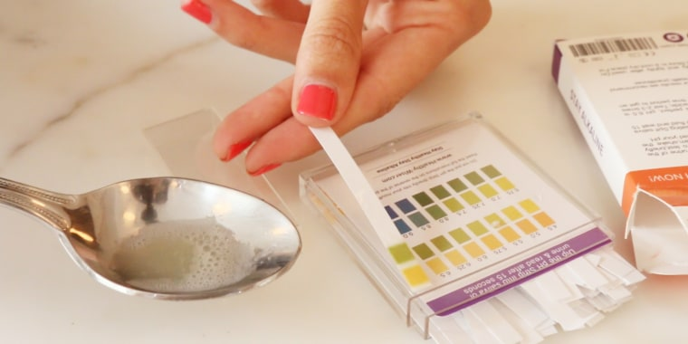 As she followed the alkaline diet, Duerson used PH strips to test the acidity of her saliva.
