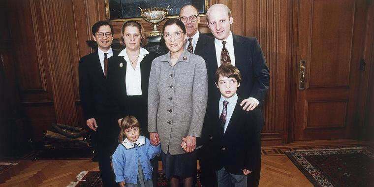 Image: Ruth Bader Ginsburg, George Spera, Jane Ginsburg, Martin Ginsburg, James Ginsburg, Clara Spera, Paul Spera