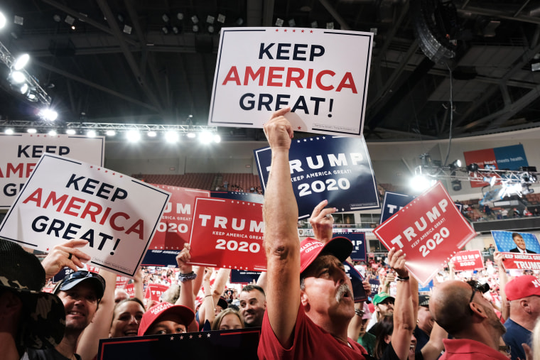 Donald Trump Holds MAGA Campaign Rally In New Hampshire