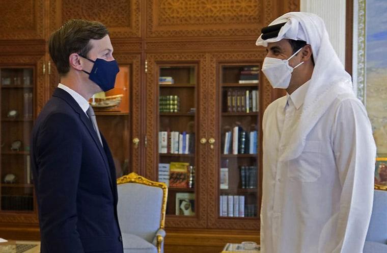Image: Jared Kushner with Qatar's ruler Emir Sheikh Tamim bin Hamad al-Thani