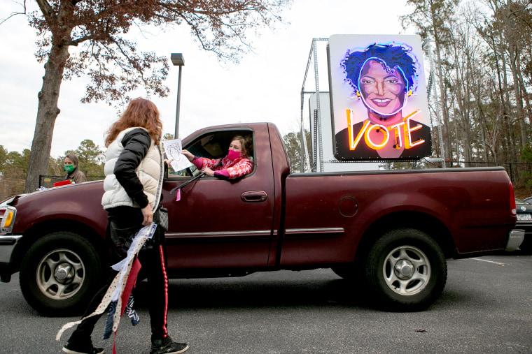 Image: Democratic Senate Candidate Jon Ossoff Campaigns In Kennesaw, GA