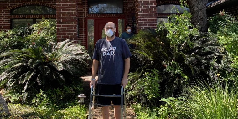 Jared Diamond began his recovery only being able to walk 150 feet outside his home with his walker; last week he reached 8 and a half miles.